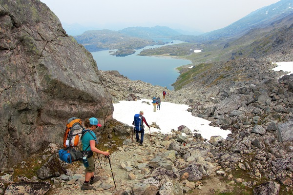 Ruby-Range-Adventure-Stampeders-Route-Trekking-Chilkoot-Trail-Coming-down-the-Pass
