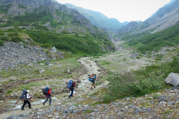 Ruby-Range-Adventure-Stampeders-Route-Trekking-Chilkoot-Trail-On-the-way-to-the-scales